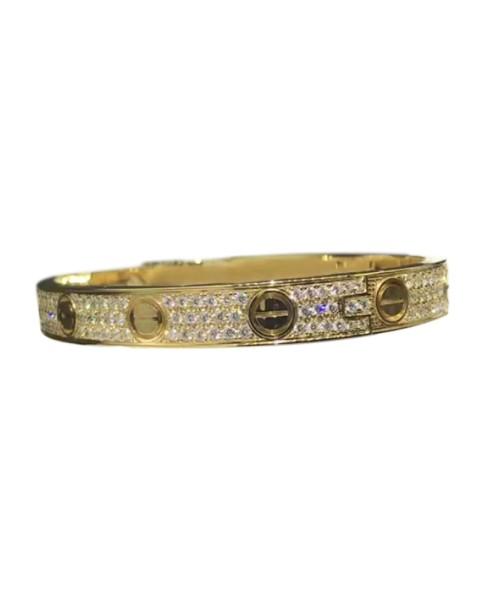 Cartier Love Bracelet 18K Yellow Gold with Diamond Size 16