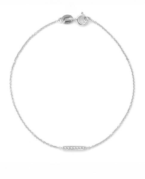 Diamond Bar Single Station Bracelet
