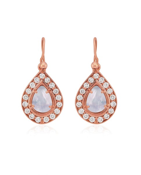 Misahara Basa 18k Rose Gold Earrings