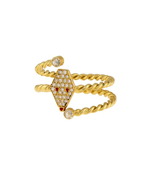 Misahara Drina Double Coil Ring 18k Yellow Gold Ring