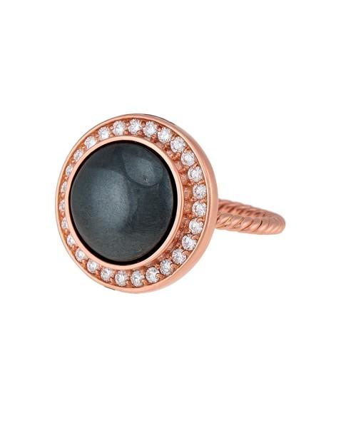 Misahara Stena Ring (Hematite) 18k Rose Gold Ring