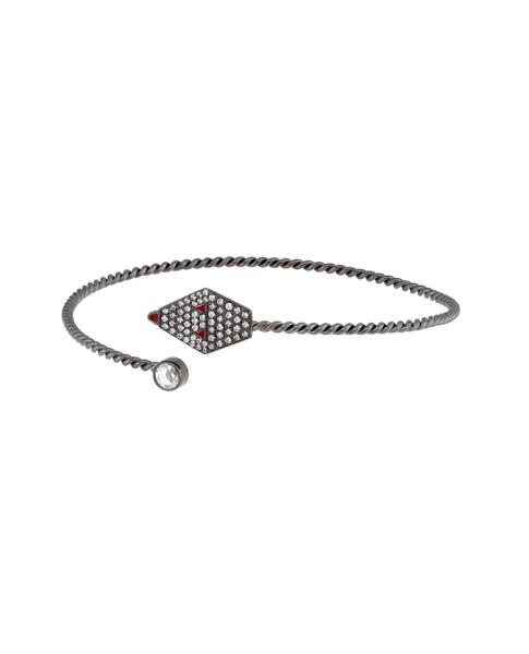 Misahara Drina Coil Bracelet 18k Oxidized White Gold Bracelet
