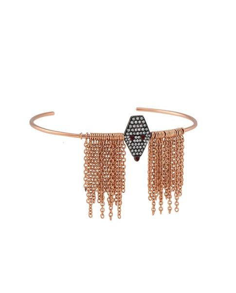 Misahara Drina Waterfall Bracelet 18k Rose & White Gold Bracelet