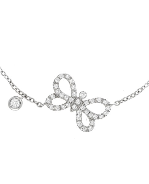 Dainty Collection 18k White Gold Diamonds Bracelet