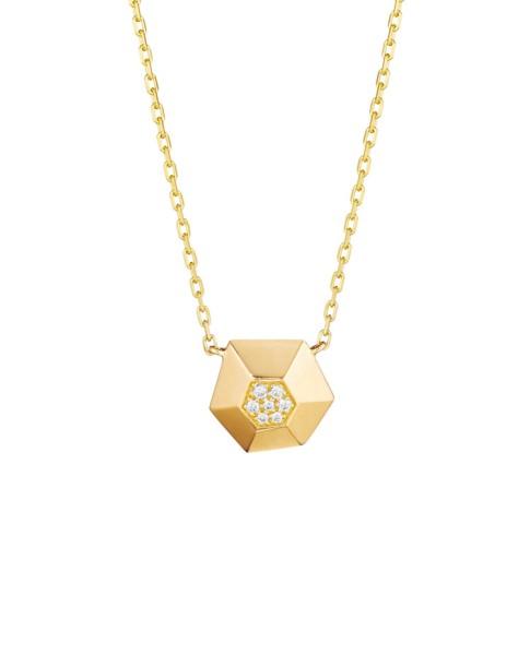 18K Gold Jackson Small Diamond Pendant