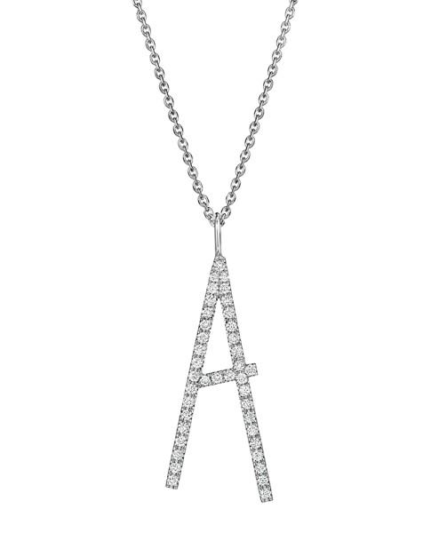"Mimi So Type Letter ""A"" Pave Diamond Pendant"