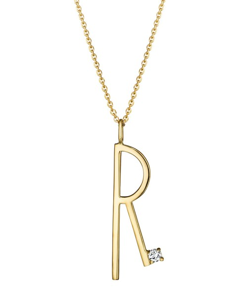 "Mimi So Type Letter ""R"" Pendant"