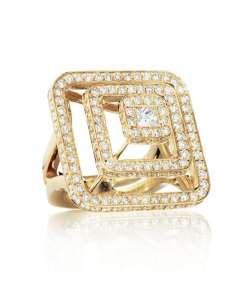 Piece Pyramid All Diamond Ring (Lrg)