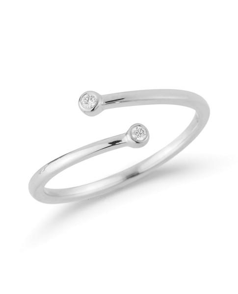 Lulu Jack Bezel Wrap Ring