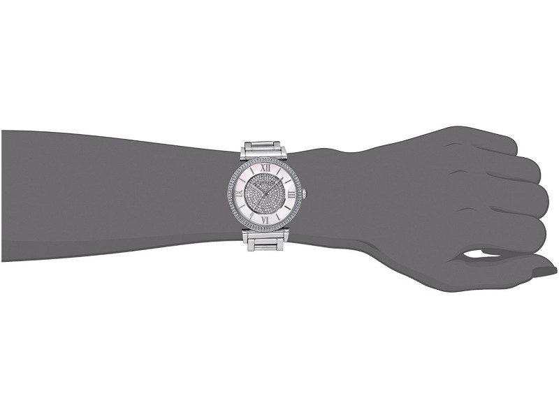 6fa1c20455b2 Michael Kors MK3355 Catlin Mother of Pearl Crystal Dial Stainless Steel  36mm Womens Watch. 1