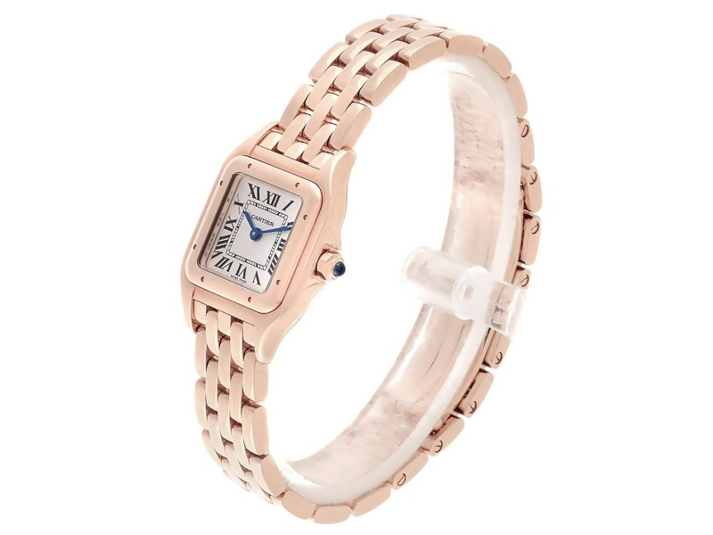 Cartier Panthere 18k Rose Gold Small Ladies Watch Wgpn0006 Unworn