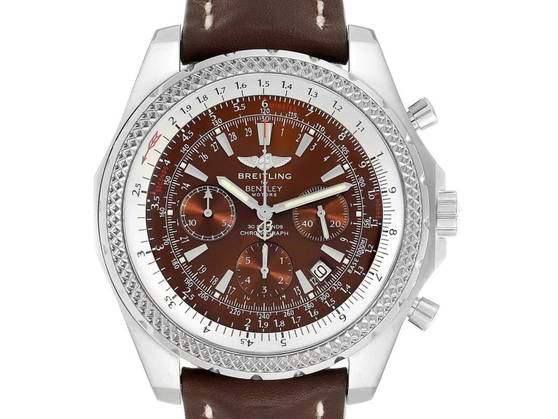 Breitling Bentley Watch >> Breitling Bentley Bronze Dial Chronograph Steel Mens Watch A25362