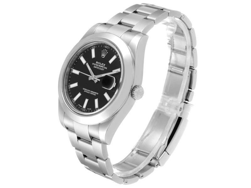 Rolex Datejust II 41mm Black Dial Oyster Bracelet Steel
