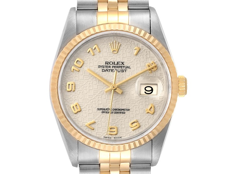 Rolex Datejust Steel 18K Yellow Gold Mens Watch 16233 | Buy at TrueFacet