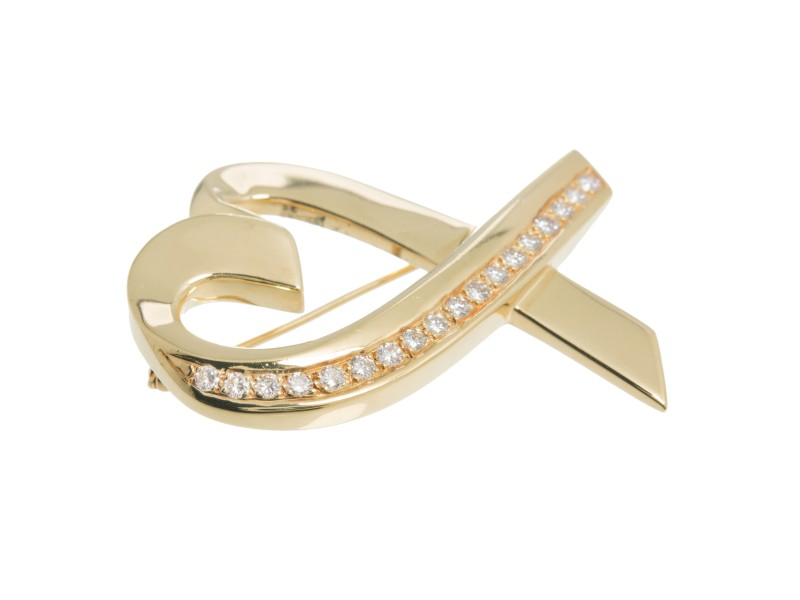 Tiffany & Co. 18K Yellow Gold with 0.07ct. Diamond Pearl
