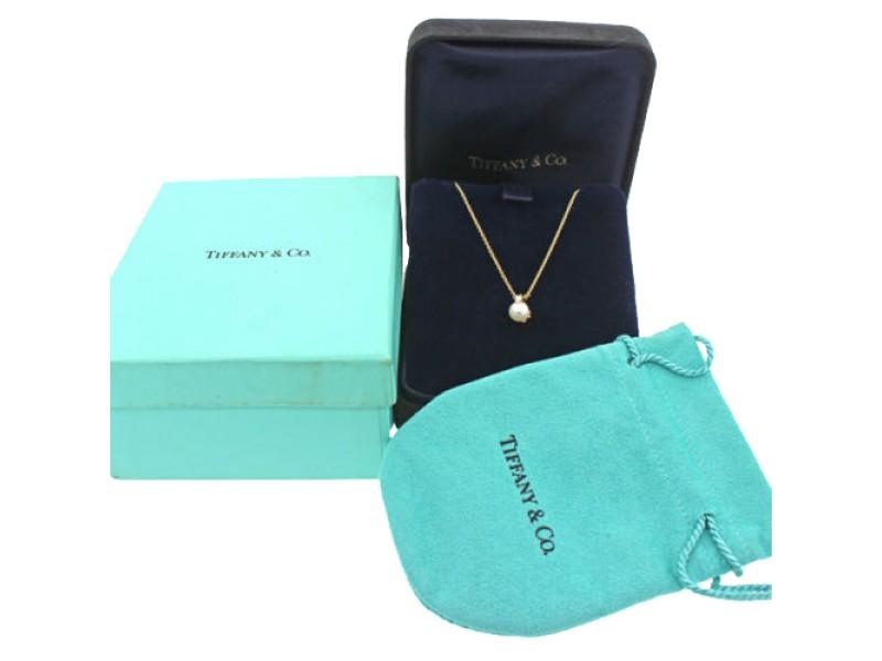 Tiffany co 18k gold ayoka pearl diamond pendant necklace 18k gold ayoka pearl diamond pendant necklace tiffany co buy at truefacet aloadofball Gallery