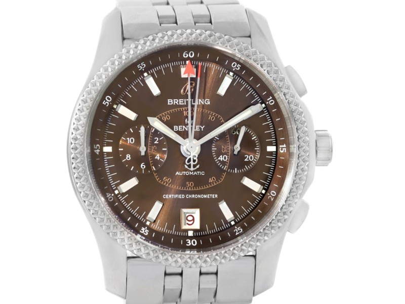 replica breitling dial chronograph bentley b and flying leather band chronometer black shop watch