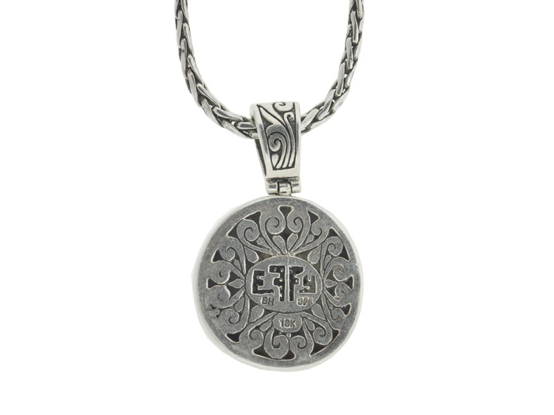 Effy Balissima Two Tone Diamond Disc Pendant Necklace
