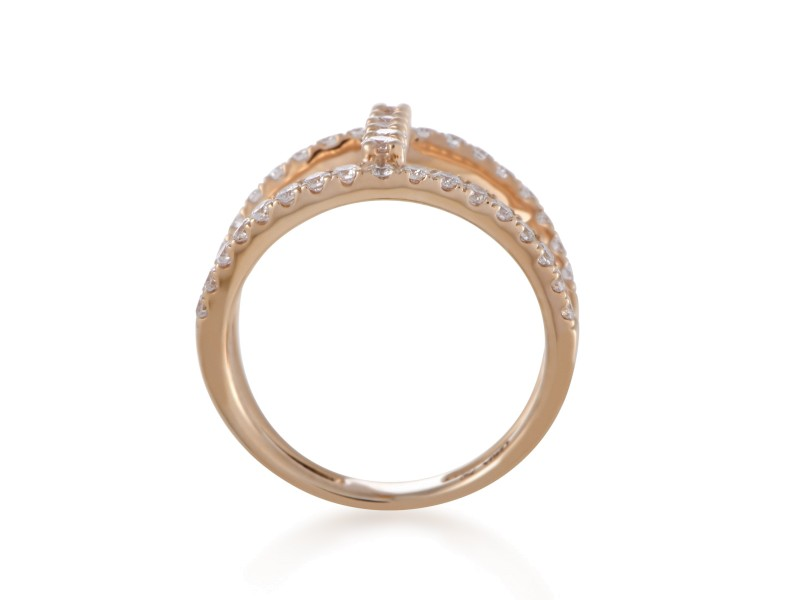 Odelia 18K Rose Gold Diamond Band Ring Size 6 Odelia Buy at