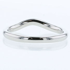 """TIFFANY & Co 950 platinum Curved band approx 0.1 """"wide Ring"""