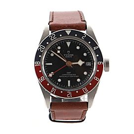 Tudor Heritage Black Bay GMT Automatic Watch Stainless Steel and Leather 41