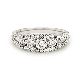 18K White Gold with 1.30ct. Diamond Ring Size 6.5