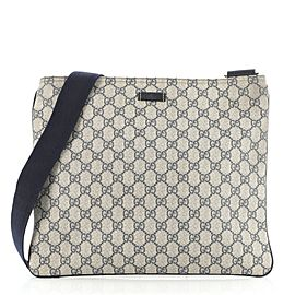 Gucci Zip Top Messenger Bag GG Coated Canvas Large