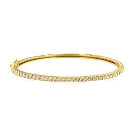 14K Yellow Gold with 2.00ctw. Diamond Bangle