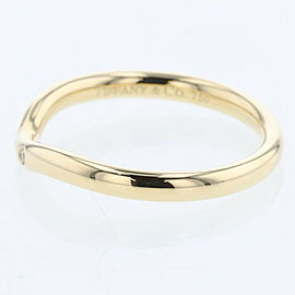 TIFFANY & Co K18 Yellow Gold / diamond Curved band 3P Ring TBRK-89