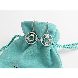 Tiffany & Co Silver RARE Atlas Roman Numeral Dangle Dangling Earring