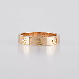 CARTIER 18K pink Gold Mini love Cleaned ring CHAT-983
