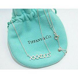 """Tiffany & Co. Sterling Silver Paloma """"XO"""" Pendant Necklace TNN-1823"""