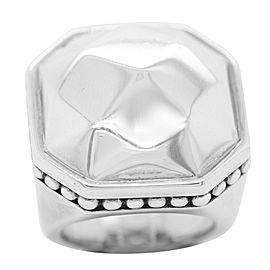 Lagos Silver and Gold Domed Large Ring