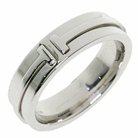 TIFFANY & Co. 18k White Gold T TWO Ring