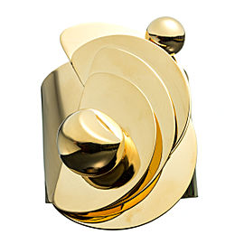 Alexis Bittar Sculptural Geometric Goldtone Cuff Bracelet