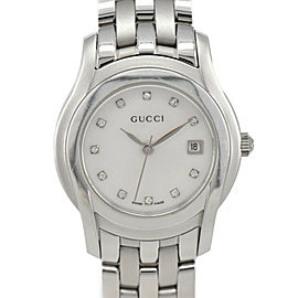 GUCCI 5500L 11P Diamond White shell Dial Quartz Ladies Watch