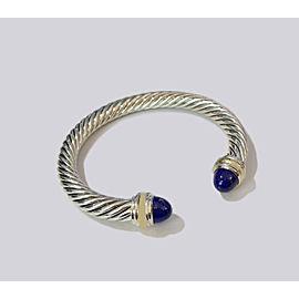 David Yurman Sterling Silver & 14k Gold Lapis Lazuli Bracelet, 7mm