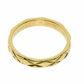CHANEL 18K Yellow Gold Matelasse Ring