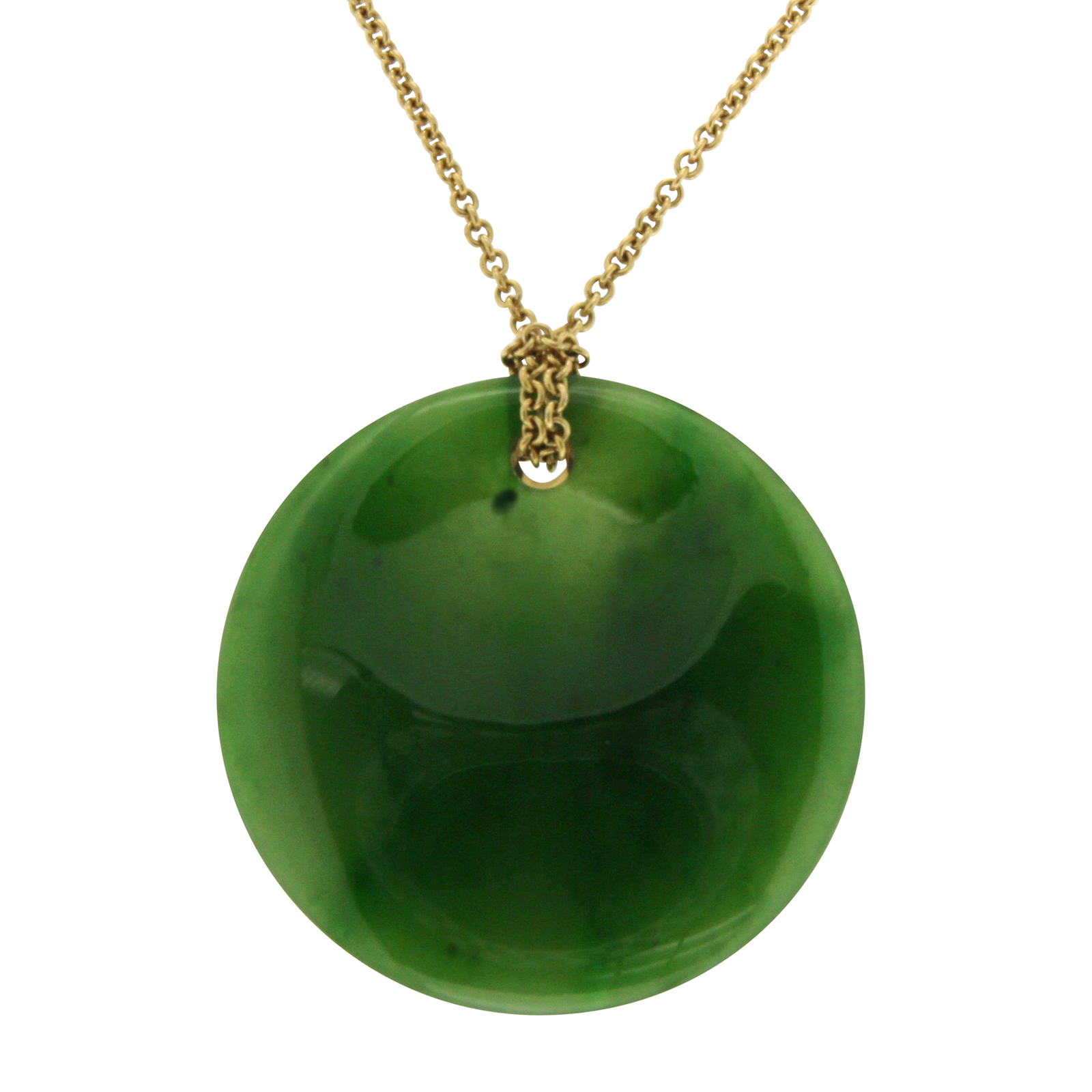 9403808be4cf3 Tiffany & Co. Elsa Peretti 18K Yellow Gold & Round Jade Pendant Necklace