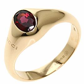 GUCCI 18k Pink Gold Garnet Ring