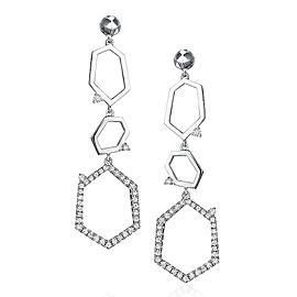 Mimi So Jackson Pave Diamond Three Link Earrings