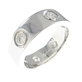 Cartier 18K White Gold Love Full Diamond ring TkM-127