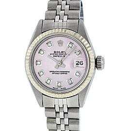 Rolex Datejust Stainless Steel & 18K White Gold Diamond 26mm Watch