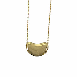 TIFFANY & Co. 18K Yellow Gold Bean Necklace CHAT-969