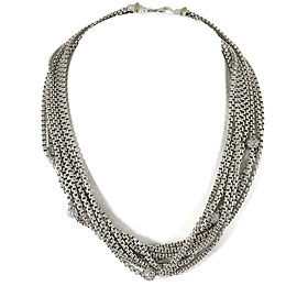 David Yurman Sterling Silver and 18K Yellow Gold with 1ctw. Diamond Chain Necklace