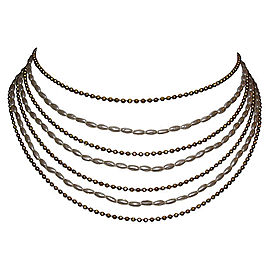 Chanel 18K Gold Plated Multi-Strand Bib Necklace