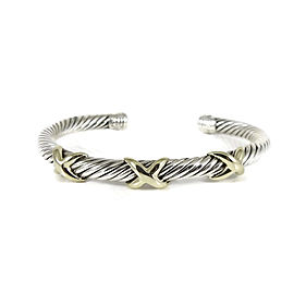 David Yurman 925 Sterling Silver & 14K Yellow Gold XXX Bracelet
