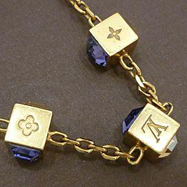 LOUIS VUITTON Gold Tone Collier Gamble Necklace