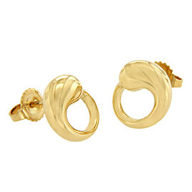 Tiffany & Co. 18K Yellow Gold Peretti Eternal Circle Stud Earrings
