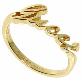 GUCCI 18K Yellow Gold Logo Ring TNN-2001
